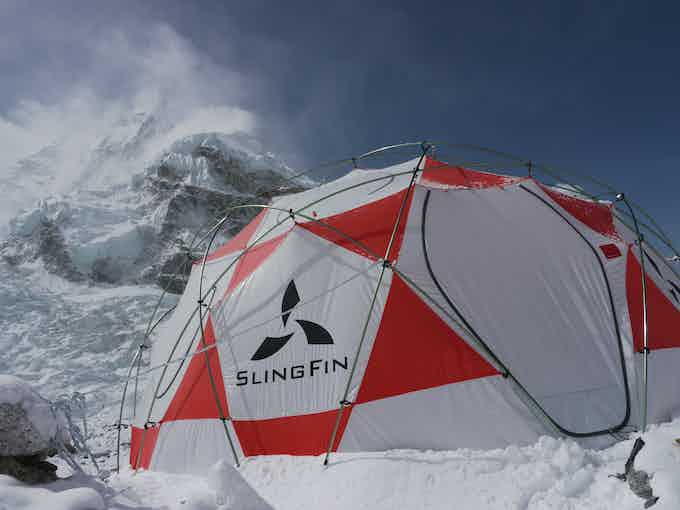 Our LFD tent holding down the fort on Mount Everest
