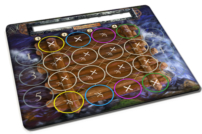Undertow two-sided Battle Mat to handle both land and river battles!