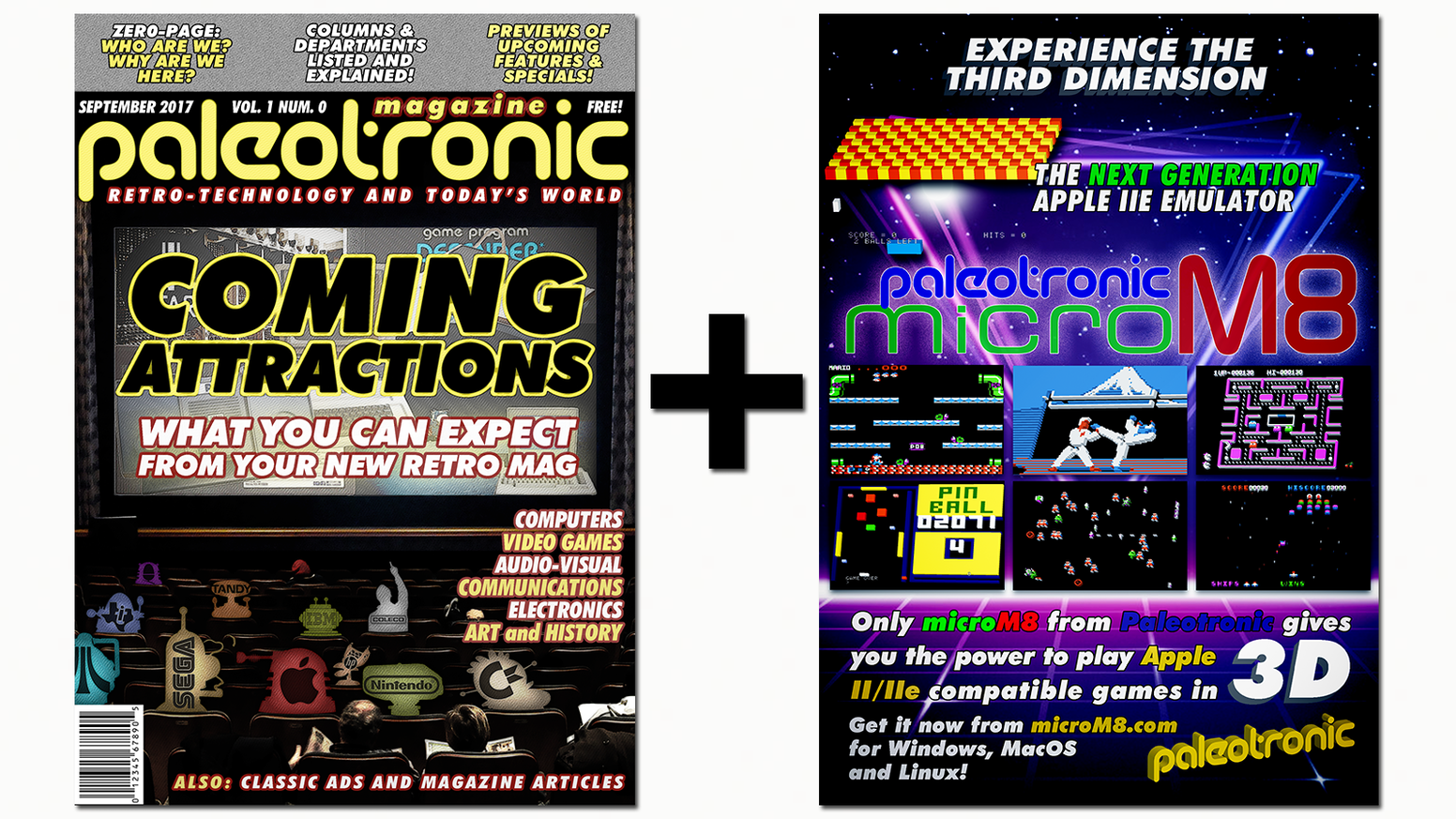 Paleotronic Retro-Technology Magazine + microM8 3D Emulator