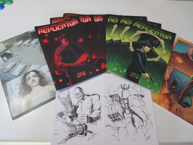 The Printed Comic, Prints and Sketch Cards.