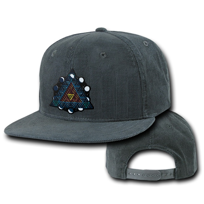 Corduroy snapback with an embroidered Cole & The Thornes patch, hand stitched by Cole herself! (rendition)