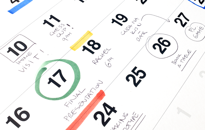 The value of traditional time-planning tool
