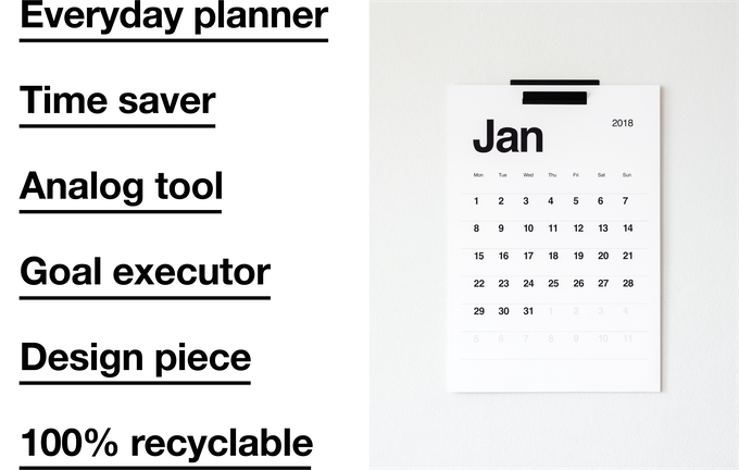Kal. A modern, minimalist design calendar for everyday use