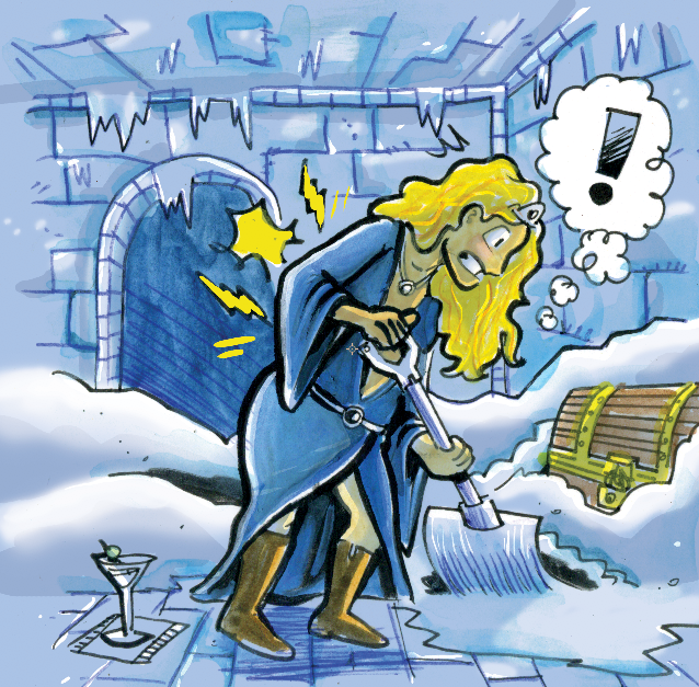 Ben G. got all the fun cards, like throwing your back out while shoveling snow