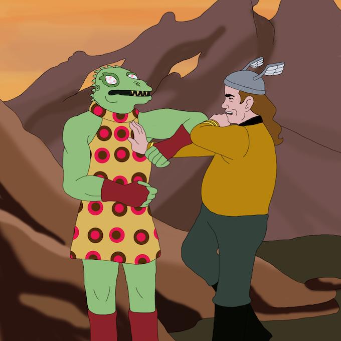 """""""Man in Lizard Costume"""""""