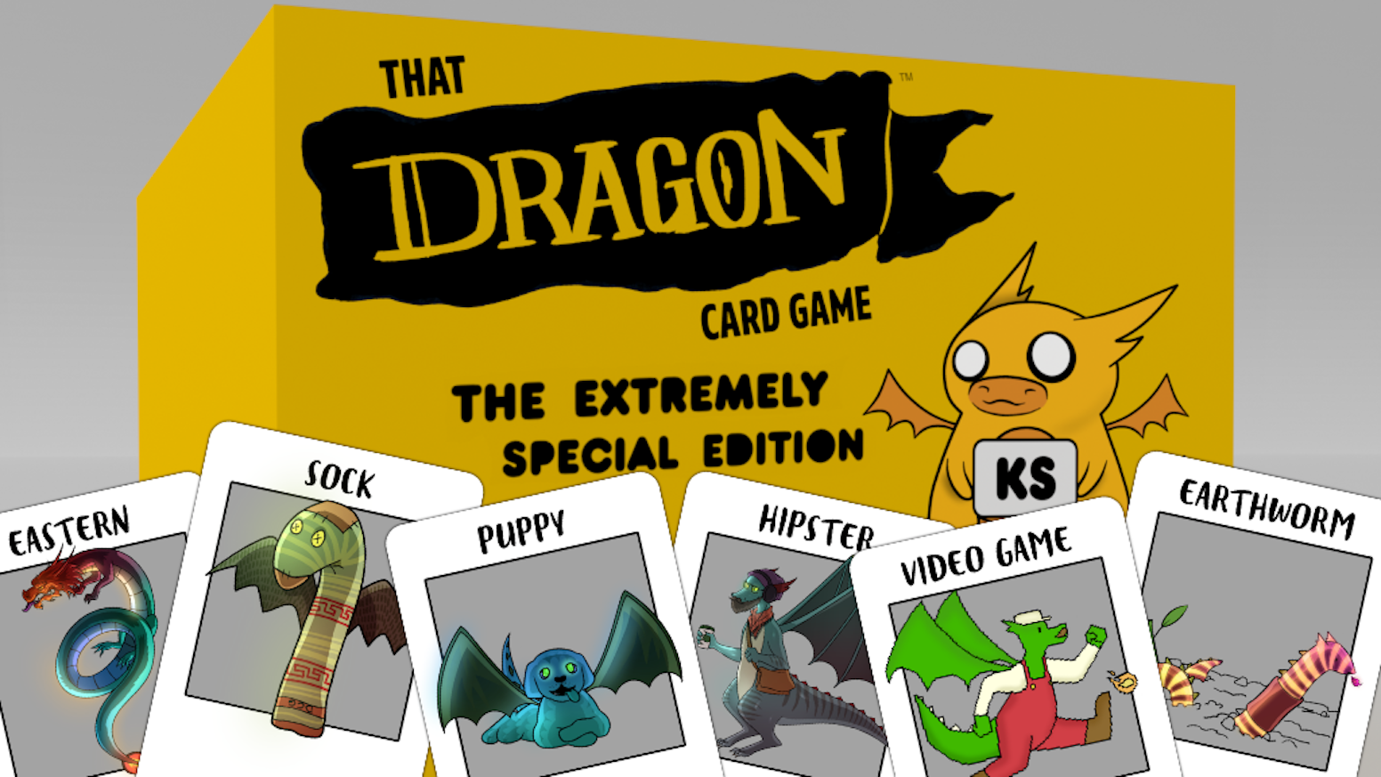 A card game for people into Dragons, Fur-ball Fire, Fortune Cookie Scales, and like Sock Dragon, you hate laundry day...