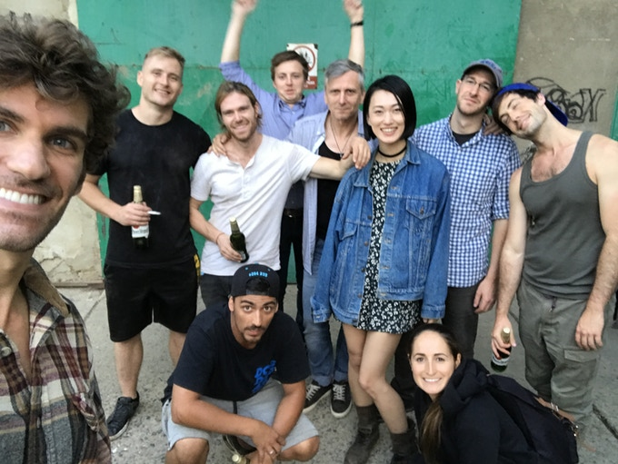 production team and actors after wrapping filming in Czech Republic