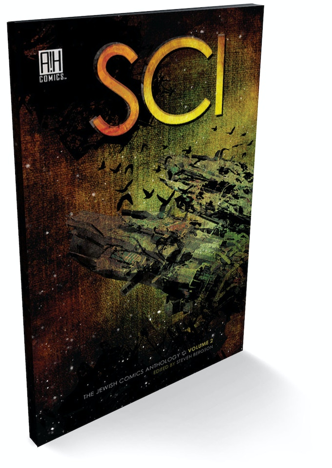 A beautiful, glossy softcover First Printing book of SCI: The Jewish Comics Anthology Volume 2!