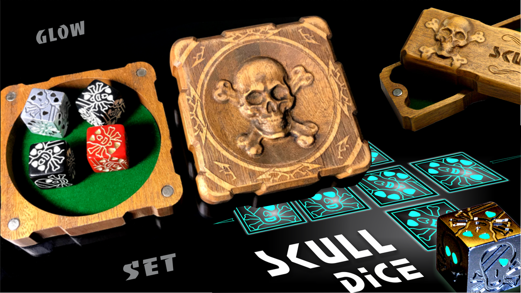 Skull Dice Glow - Exclusive Set with 3D technologies project video thumbnail