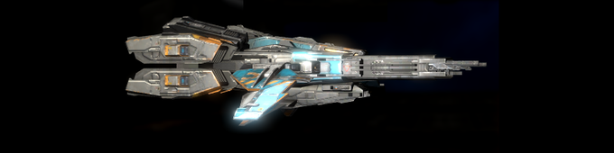 Heavy Fighter - This is the big brother of the light fighter, more firepower and shield capability