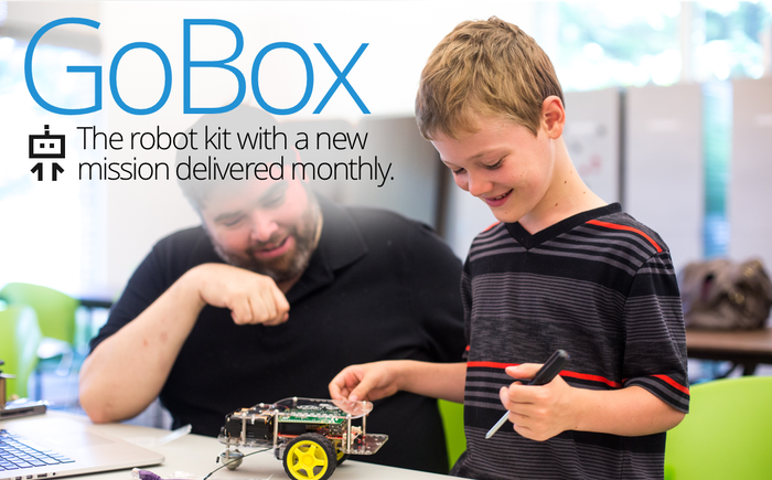 The robot kit with a new mission delivered monthly.