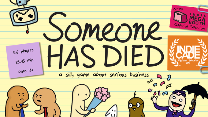 Someone Has Died is an improvisational storytelling game set at a will arbitration.
