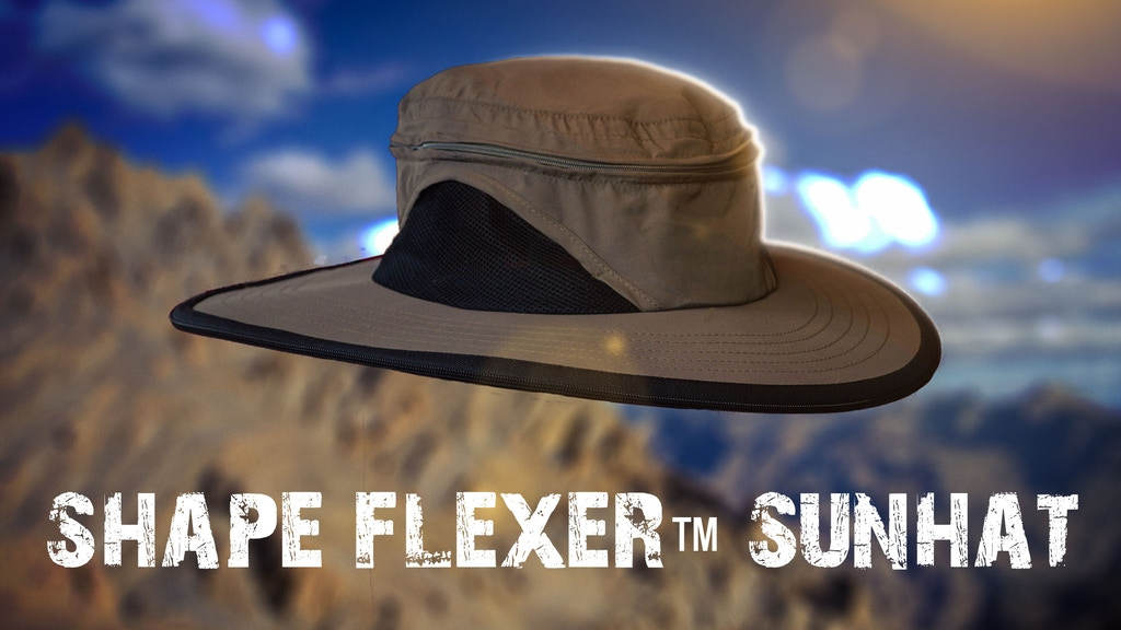 Shape Flexer: The world's first shape-able stiff brim sunhat