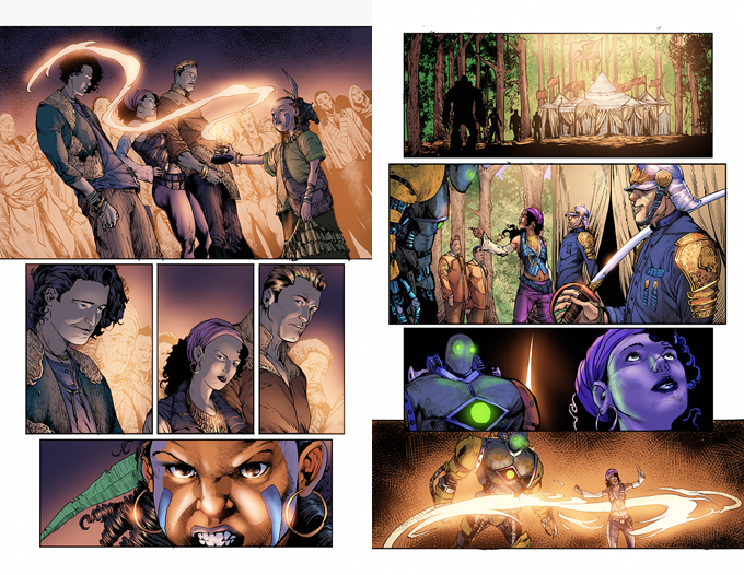 The Gilded Age - Issue #4 - Pages 4 & 7 - Art - Sean Hill - Colors - Nimesh Morarji