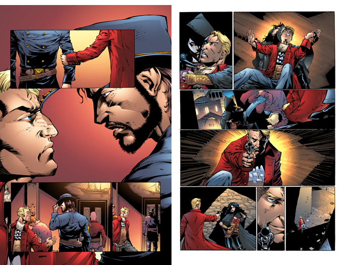 The Gilded Age - Issue #2 - Pages 12 & 14 - Pencils - Sheldon Mitchell - Inks -Rich Perotta - Colors - Thomas Chu