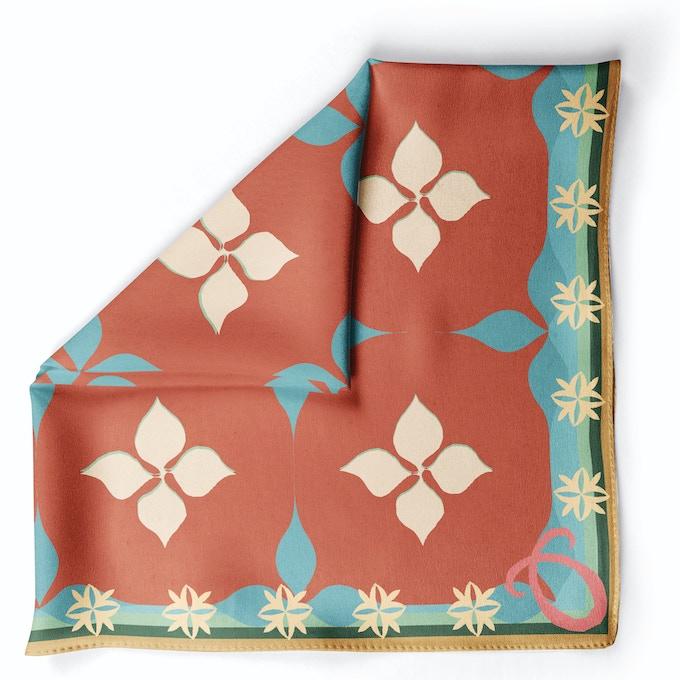 Mosaic Kaavi Brown in Crepe Silk