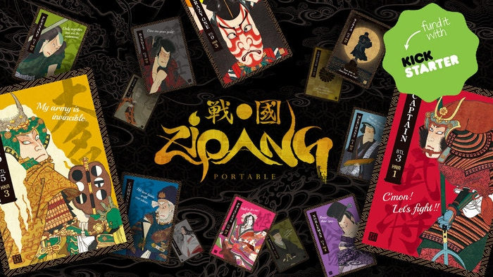 "Zipang Portable is a fast-paced ""pick one, play one"" card game beautifully designed by Japanese artists with ukiyo-e style."