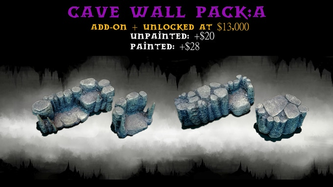 Cave Wall Pack:A contains two Size 2 Risers