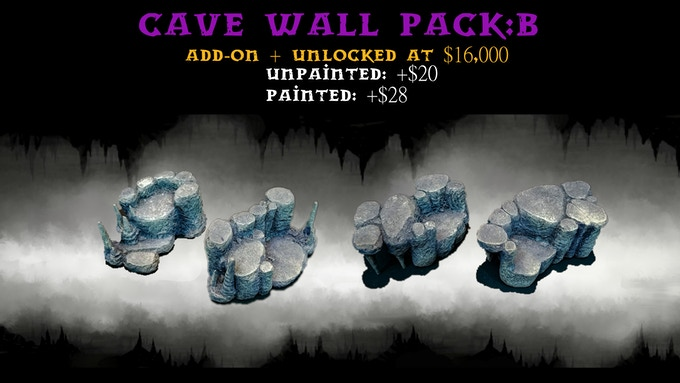 Cave Wall Pack:B contains two Size 2 Risers