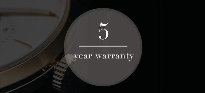 5 year warranty with every watch
