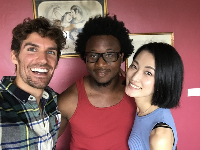 Ben Palacios, Alex Fondja, and Mari Yamamoto