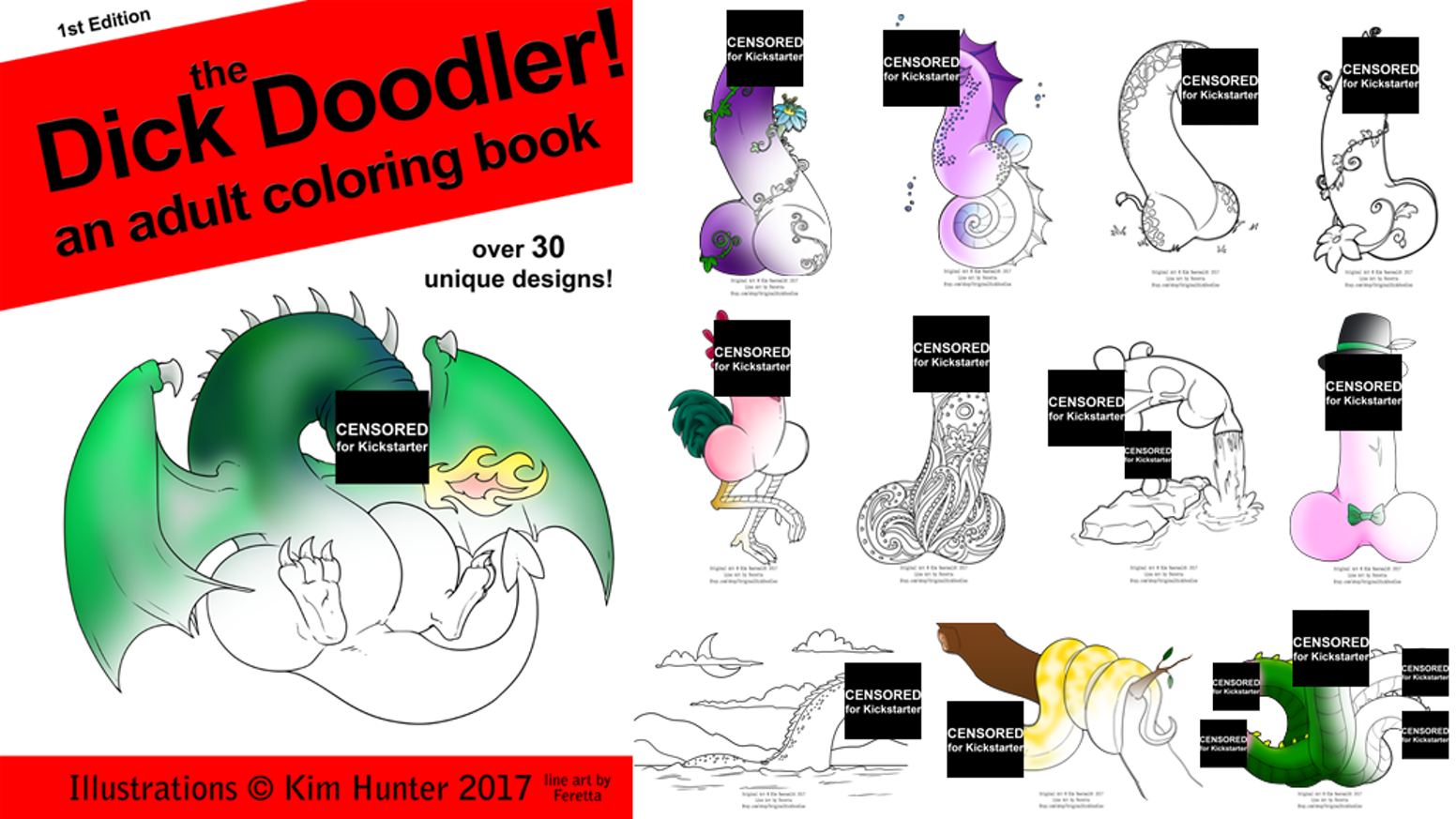 The dick doodler a unique adult coloring book by kim kickstarter