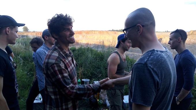 Ben Palacios with Czech producer Tomas Otradovec