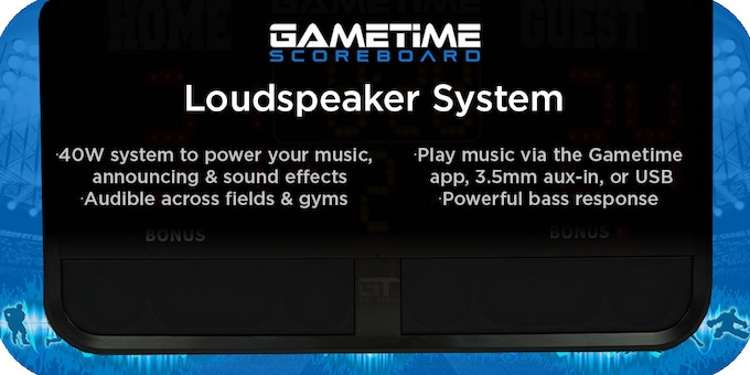 Enhanced bass response with four powerful 10W Speakers