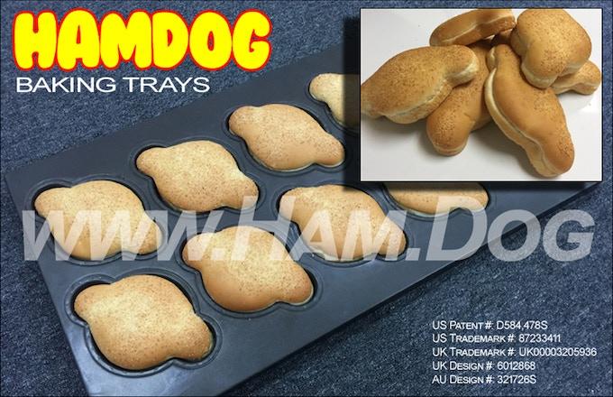 Our unique Hamdog™ baking trays.