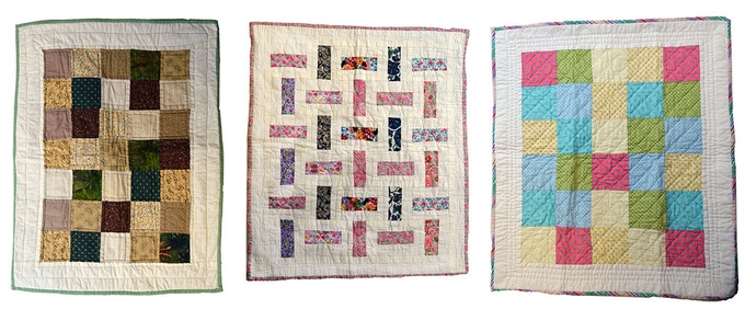Examples of the patchwork quilts
