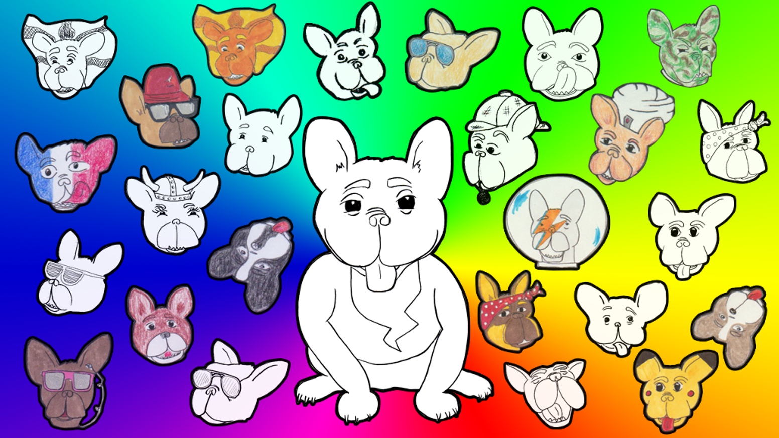 Frenchie For Hire - French Bulldog Coloring Book by Chris Phillips ...