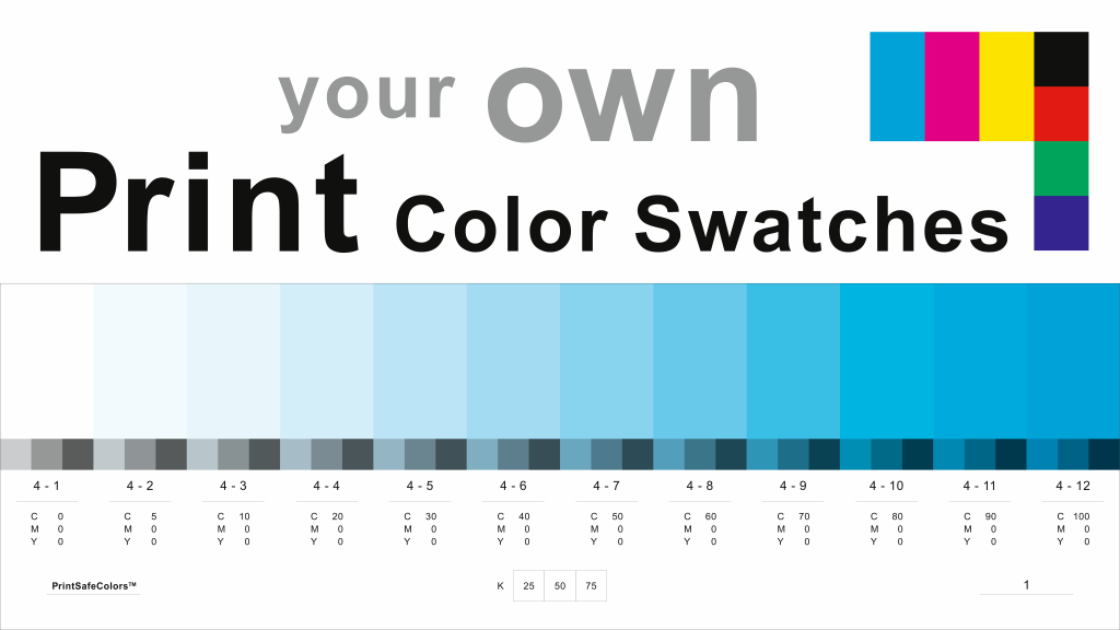 SRGB And CMYK Color Swatches Presented In PDF Documents