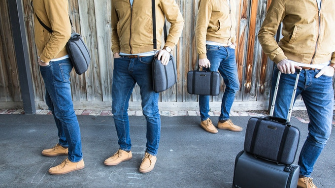 4 ways to carry MOBICASE - Cross-body Messenger, Classic Shoulder Bag, Briefcase or  Rolling Travel Companion