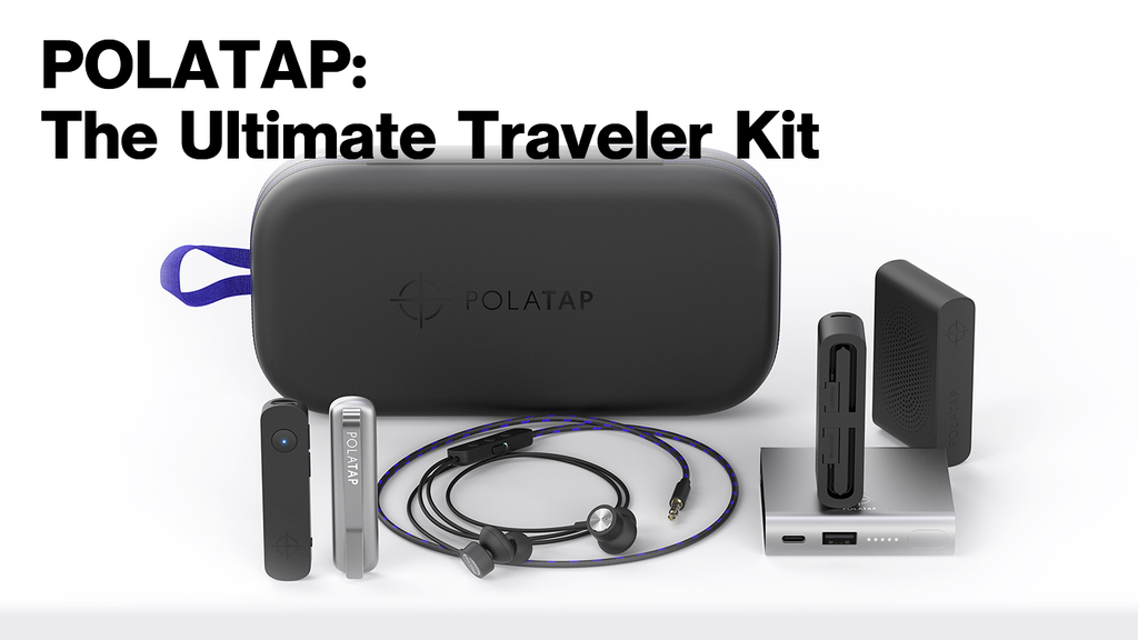 POLATAP: Ultimate Bluetooth Audio and Battery Traveler Kit