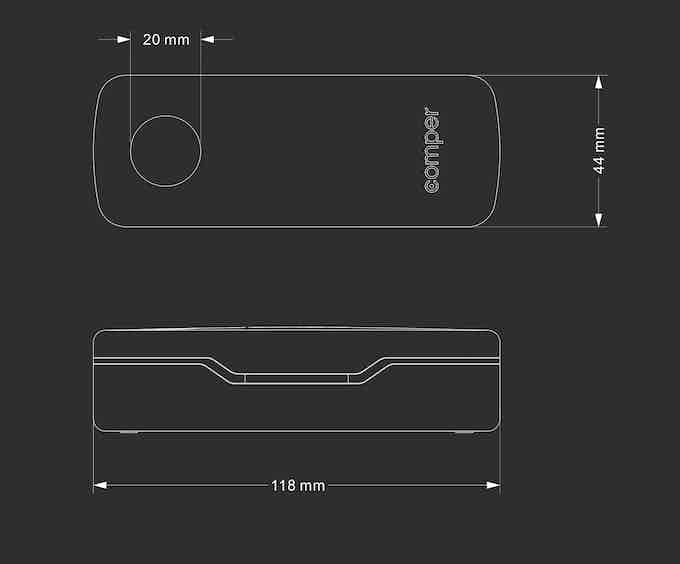 The size of charging case