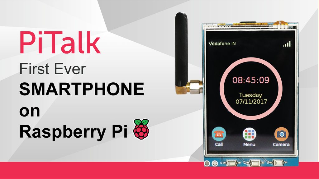 PiTalk - IOT enabled & Modular SmartPhone for Raspberry Pi project video thumbnail