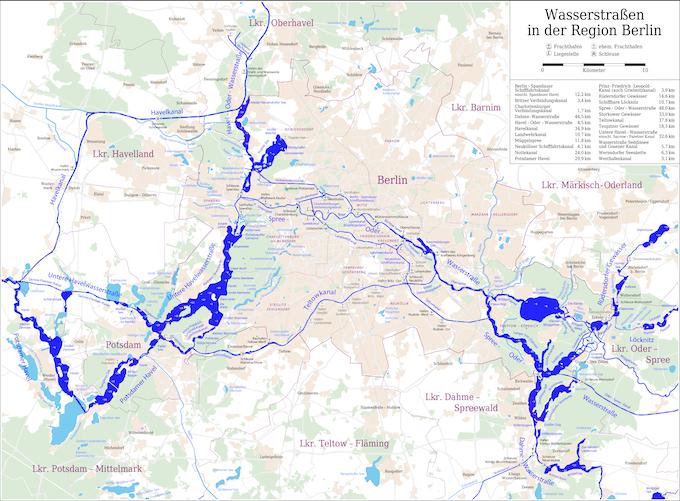 Waterways in the Berlin region