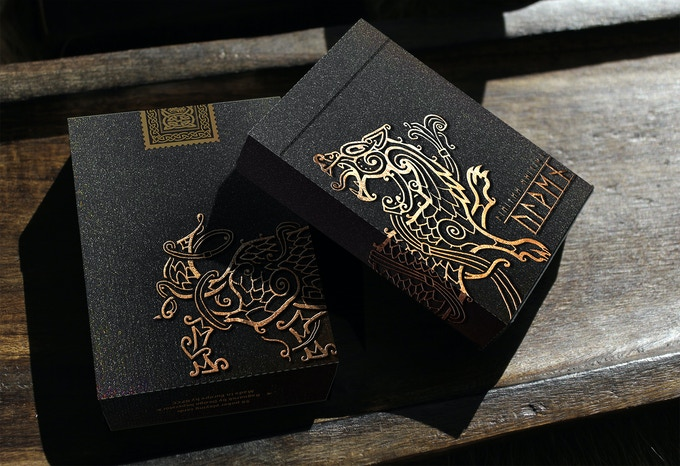 Fenris tuck with silver foil, embossing and special stock