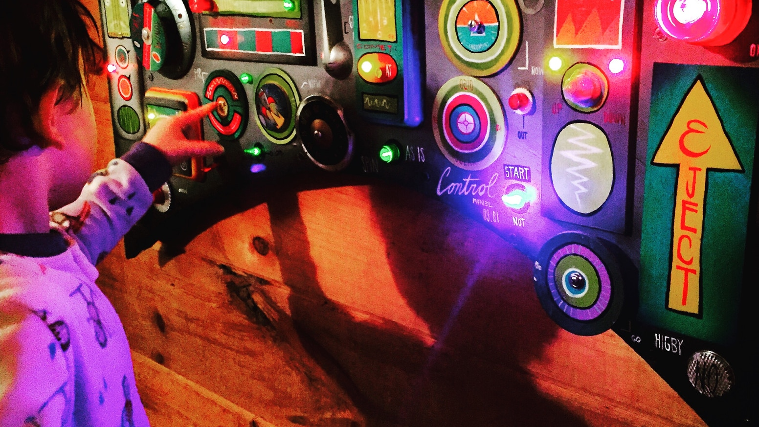 Kids Outer Space Rocket Control Panels By John Higby By