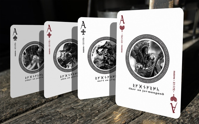 Aces featuring iconic and legendary battles between Asgard and Jotunheim.