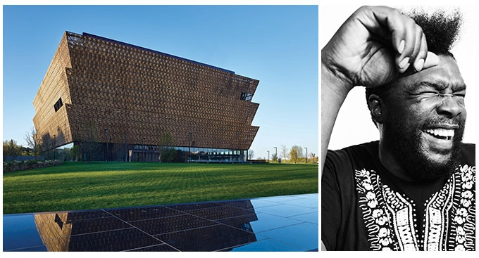 The National Museum of African American History and Culture. Questlove photograph by Shayan Asgharnia.