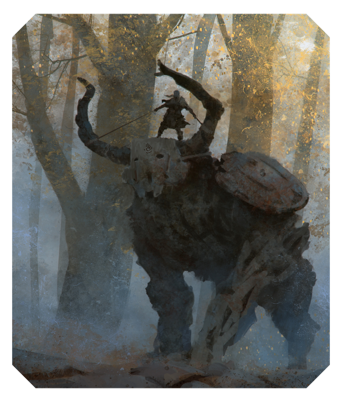 Will the iconic Colossi be thoroughly described in the Monster Codex? Well, of course, and here is the (work-in-progress) illustration to prove it!