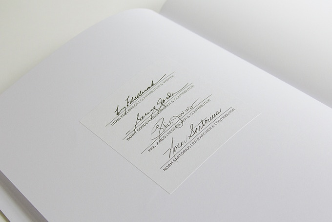 ONLY ON KICKSTARTER—The standard edition book will have an archival quality signature plate inserted into the front of the book. The signatures are digital scans of the Emil Milan Research Team and is only available in the books purchased on Kickstarter.