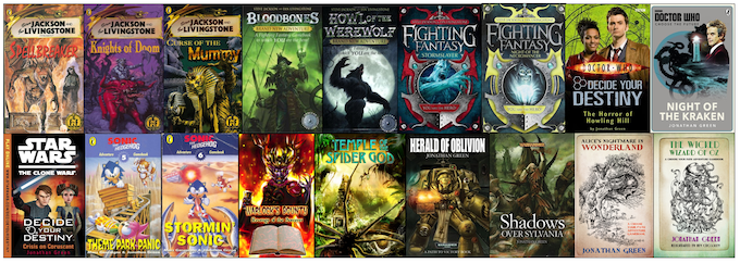 Adventure gamebooks written by Jonathan Green
