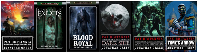 Pax Britannia steampunk novels by Jonathan Green