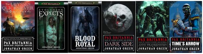 Pax Britannia steampunk novels by Jonathan Green
