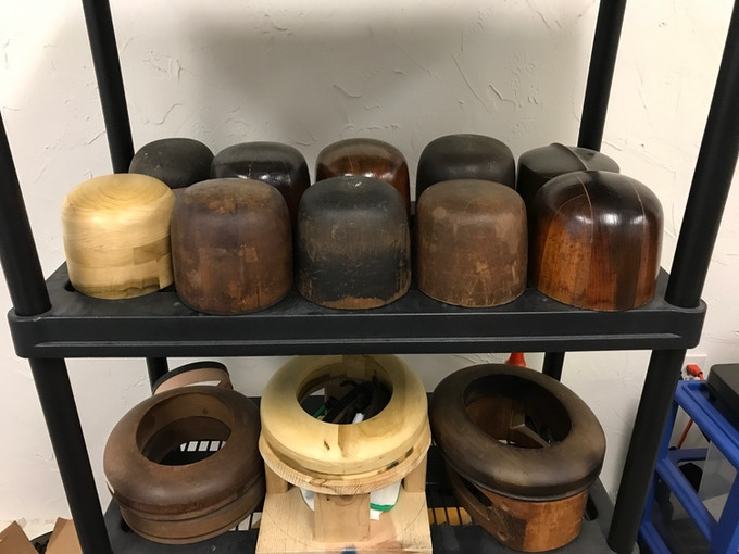 My personal collection of crown and brim blocks