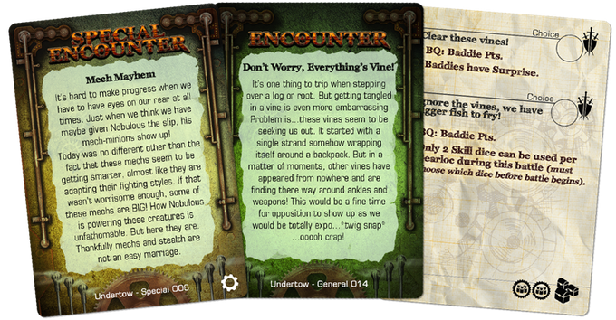 Undertow contains General, Solo, Special, and Tyrant Encounters.