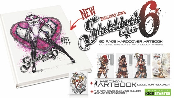 JAMIE TYNDALL ARTBOOKS - Covers, pinups and sketches