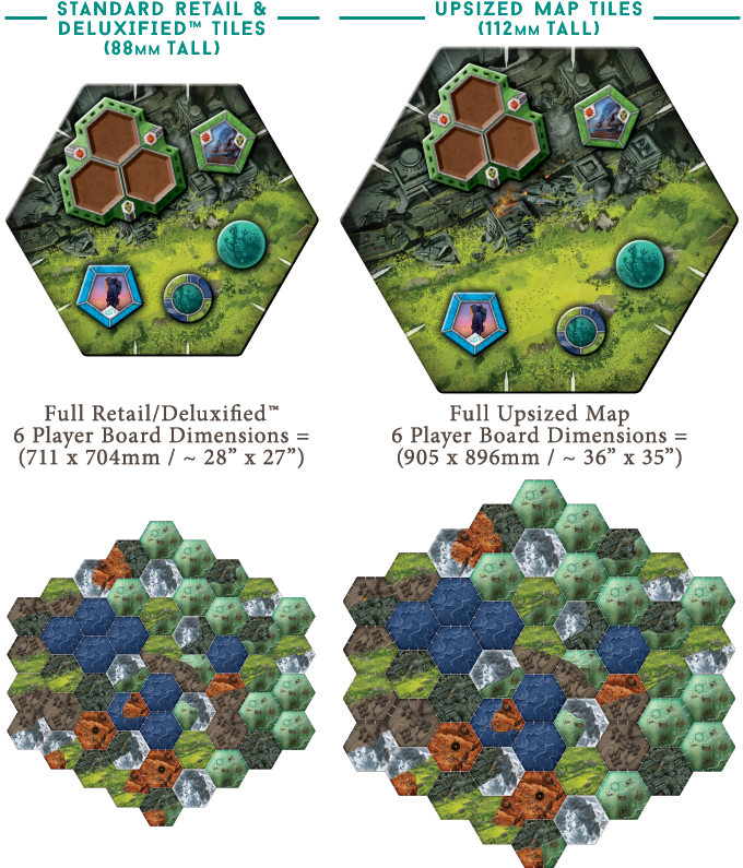 The Upsized Map Tiles will be compatible with both the Deluxified™ and Retail versions of Downfall!